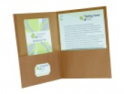 Oxford 2 Pockets Earthwise Recycled Pocket Folder - Natural Pack 25