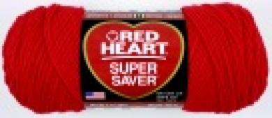 Red Heart Acrylic 4-Ply Machine Washable Economy Saver Yarn - Hot Red 210ml