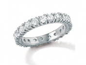 PalmBeach Jewellery 6211_5 2 TCW Round Cubic Zirconia Eternity Band in Sterling Silver Size 5