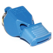 OlympiaSports WH071P Fox Classic Cmg Officials Whistle & Lanyard - Blue