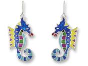 Zarah 01-08-Z1 Calypso Seahorse Silver Plate Earrings