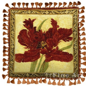 FineArtTapestries 1720-P Fire Red Tulip Pillow