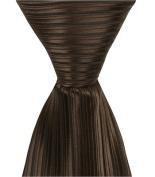 Matching Tie Guy 4322 N6 - 24cm . Zipper Necktie - Brown With Black Pinstripe 6 to 18 Month