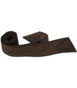 Matching Tie Guy 4067 N6 HT - 110cm . Child Matching Hair Tie - Brown With Black Pinstripe