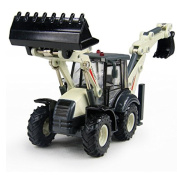 eMart Alloy Diecast Toy Digger and Excavator Truck Model 1:50 4 Wheel Multi-Function Excavator Metal Engineering Vehicle Car Collection Toys for Kids