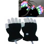 LED Colourful Flashing Finger Rave Gloves Toys