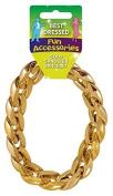 Mens Gold Gangster Bracelet 31cm Accessory for 70s Bling Jewellery Fancy Dress