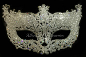 Allsorts® Venetian Silver Filigree Masquerade Ball Mask Party Fancy Dress Christmas