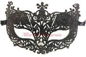 Allsorts® Venetian Black Filigree Masquerade Ball Mask Party Fancy Dress Christmas