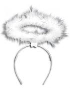 White Halo Angel on Hairband Christmas Accessory