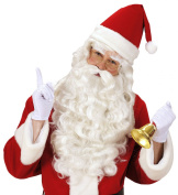 Father Christmas Santa Bishop Beard + Wig + Eyebrow in Theatre Quality