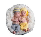 Baby Twins Boys Girls Photography Prop Crochet Knitted Hat Pants By Xselector