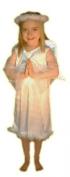 White Velour Angel Girls Fancy Dress Nativity Costume : Child Age 4 - 6yrs