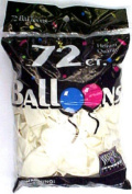 Tablemate Products 127215 72 Count White Helium Balloon