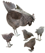 Zingz & Thingz 31170 Mother Hen & Chicks Country Garden Sculpture Set