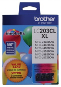 for Brother International LC2033PKS High Yield Xl 3 Pack Colour Ink
