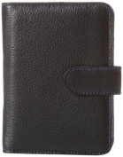 Travelon 319167 Leather Safe ID Colour Block Bi-Fold Tab Wallet Black