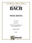 Alfred 00-K06007 BACH MISSA BREVIS G MIN BWV235