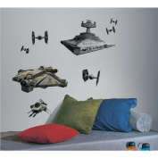 ROOMMATES RMK2657GM Star Wars Rebel & Imperial Ships Peel and Stick Giant Wall Decals