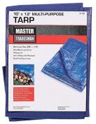 Master Tradesman MT 10 X 12 BLUE 3m x 3.7m Polyethylene Storage Tarp Cover - Blue