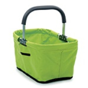 Frontier Natural Products 227876 Market Basket 17 x 28cm x 23cm . Green collapsible