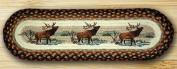 Earth Rugs 49-ST319WE Oval Stair Tread Winter Elk