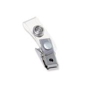 Wilson Jones. 1122897 Badge Clip with Mylar Strap Silver 100/Box