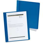 Esselte Pendaflex Corp. 5354023X Extra-Wide Clear Front Report Covers Letter Size Dark Blue 25/Box