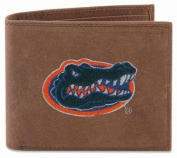 ZeppelinProducts UFL-IWE1-CRZH-LBR Florida Passcase Embroidered Leather Wallet