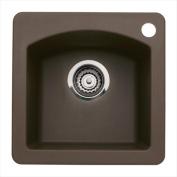 Blanco 440202 Diamond Silgranit II Single Bowl Bar Sink - Cafe Brown