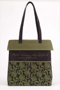 Christian Brands 62585 Tote Canvas Faith Olive Black 14 x 14