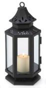 Zingz & Thingz 57070785 Black Stagecoach Candle Lantern