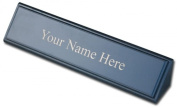 Dacasso a8246 Leather Name Plate - Blackwood