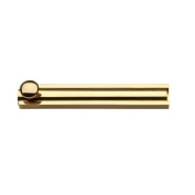 Baldwin 9BR7022-004 10cm . Surface Bolt in Polished Brass