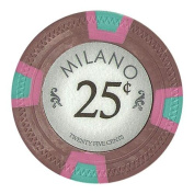 Bry Belly CPML-25c 25 Roll of 25 - Milano 10 Gramme Clay - .25 & cent; - cent