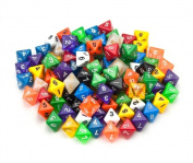Bry Belly GDIC-1003 100 plus Pack of Random D8 Polyhedral Dice in Multiple Colours