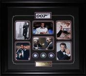 Midway Memorabilia James Bond 007 Movie Compilation Poker Chips Frame