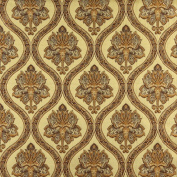 Designer Fabrics K0016H 140cm . Wide Gold Brown And Ivory Embroidered Traditional Brocade Upholstery And Window Treatments Fabric