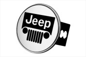 AUTO GOLD TJEEC Chrome Hitch Cover With Jeep Logo