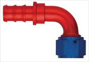 AEROQUIP FCM1534 -10 An 90 Degree Straight Socketless Fitting Red And Blue