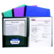 C-Line Polypropylene 8 Pockets Spiralbound Portfolio With Clear-View Cover