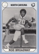 Rod Broadway Football Card (North Carolina) 1990 Collegiate Collection No.164