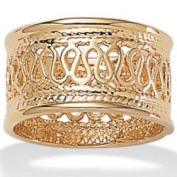 PalmBeach Jewellery 104225 Open Weave Decorative Ring in 14k Gold-Plated Size 5