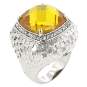 Icon Bijoux R08056R-C61-05 Yellow Cocktail Ring (Size