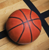 Creative Converting 657964 Sports Fanatic Basketball Beverage Napkins - Case of 216