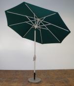 Shade Trends UM9-AS-101 2.7m x 2.4m Rib Premium Market Umbrella - Aspen Frame Forest Green Canopy