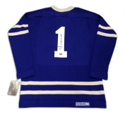 Autograph Authentic jersey_bower_blue_wool_tml_01 Johnny Bower Autographed Wool Blue Toronto Maple Leafs Jersey
