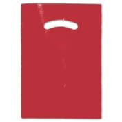 Deluxe Small Business Sales 248-0912-1 23cm x 30cm . Die-Cut Handle Bags Red