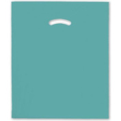 Deluxe Small Business Sales 248-1518-28 38cm x 46cm . and 10cm . BG Die-Cut Handle Bags Teal