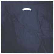 Deluxe Small Business Sales 248-2020-3 50cm x 50cm . and 13cm . BG Die-Cut Handle Bags Navy